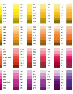 Pantone paint color chart also sample documents in word pdf rh sampletemplates