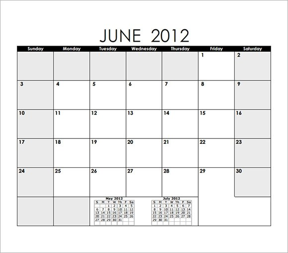 Blank Calendar Template 15 Download Free Docements In PDF