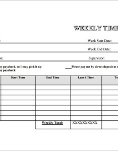Printable weekly timesheet template also employee sample documents in word excel pdf rh sampletemplates