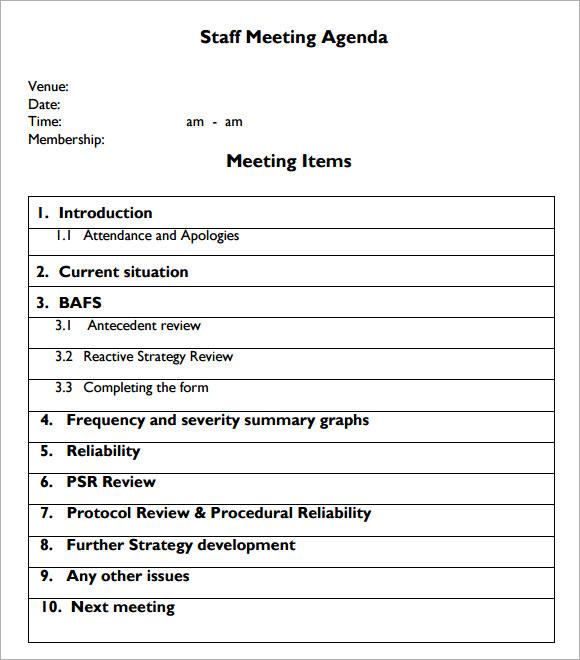 ... Staff Meeting Agenda Template 6+ Sample Agenda Forms Reporter   Cool Agenda  Templates ...  Examples Of Agenda Templates