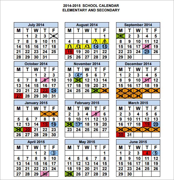 9 Sample Planning Calendar Templates to Download  Sample