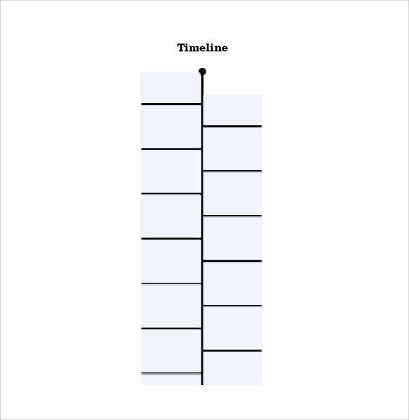 Blank Event Timeline Template - Event timeline template