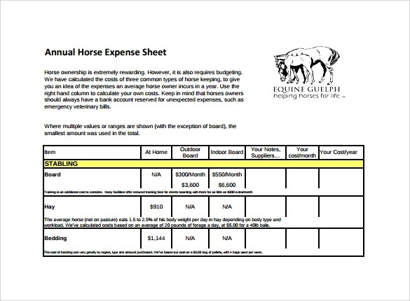 14 Sample Expense Sheet Templates To Download Sample Templates