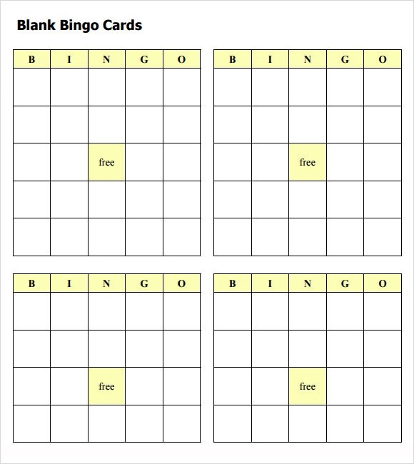 Bingo card template in word printable blank bingo cards pdf infocard thecheapjerseys Image collections