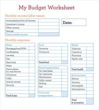 8+ Sample Budget Worksheets | Sample Templates