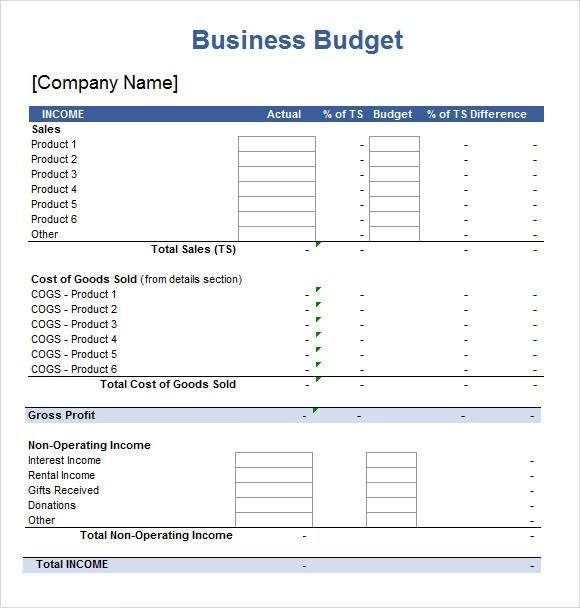 5+ Sample Budget Spreadsheets | Sample Templates