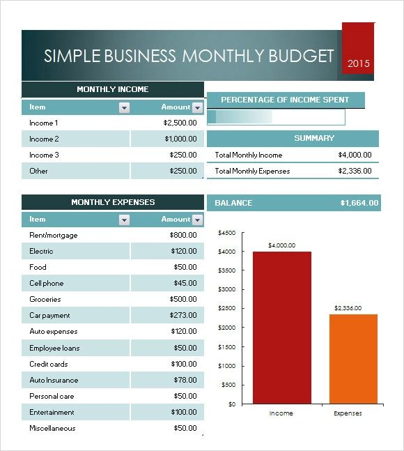 free excel budget worksheet