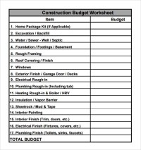 9+ Construction Budget Samples  PDF, Word | Sample Templates