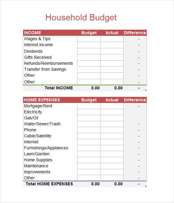 5+ Sample Budget Spreadsheets | Sample Templates