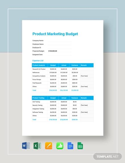 The main purposes of budgeting are resource allocation, planning, coordination, control and motivation. Free 17 Marketing Budget Samples In Google Docs Google Sheets Excel Ms Word Numbers Pages Pdf