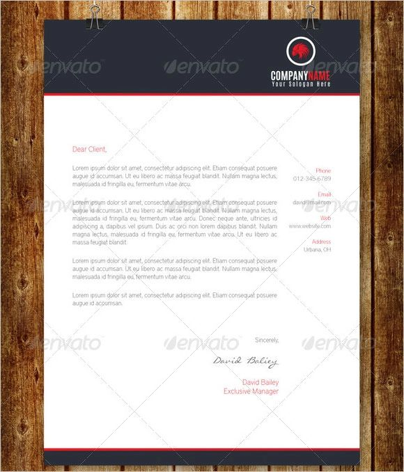 example of business letterhead