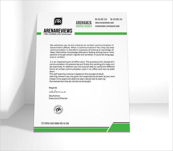 sample company letterhead template