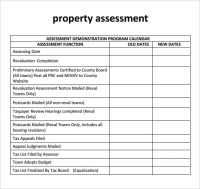 10 Sample Property Assessment Templates to Dowload ...