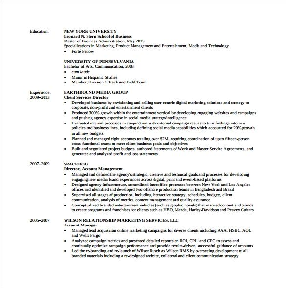 yale mba resume template