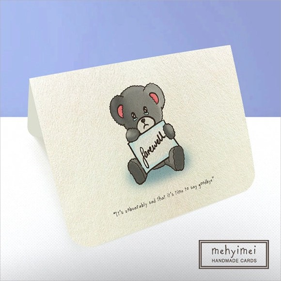 9 Sample Farewell Card Templates To Download Sample