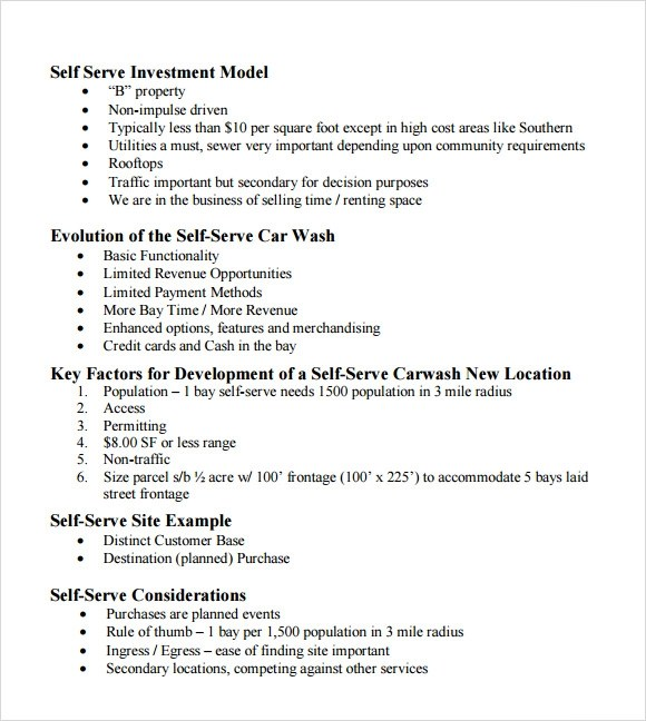 11 Car Wash Business Plan Templates Sample Templates
