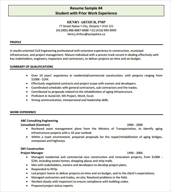 Construction Inspector Resume Templates | All Document Resume