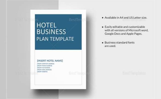 Free 13 Sample Hotel Business Plan Templates In Google