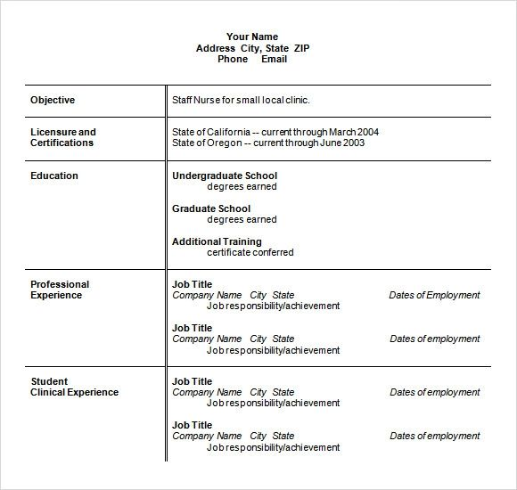 template for resumes microsoft word