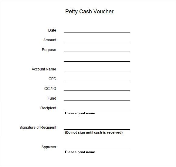 petty cash excel