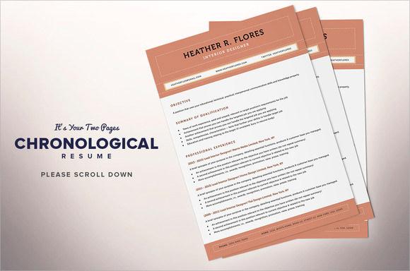 chronological format resume sample