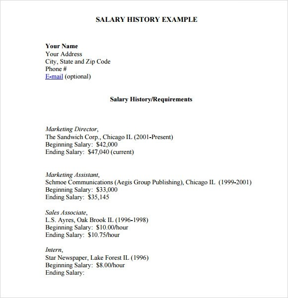 Example Of Cover Letter With Salary History Examples And Requirements Letters