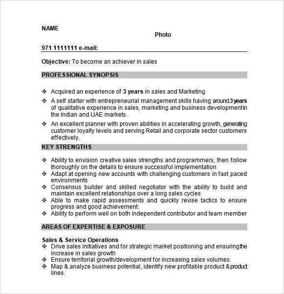 resume samples word free download
