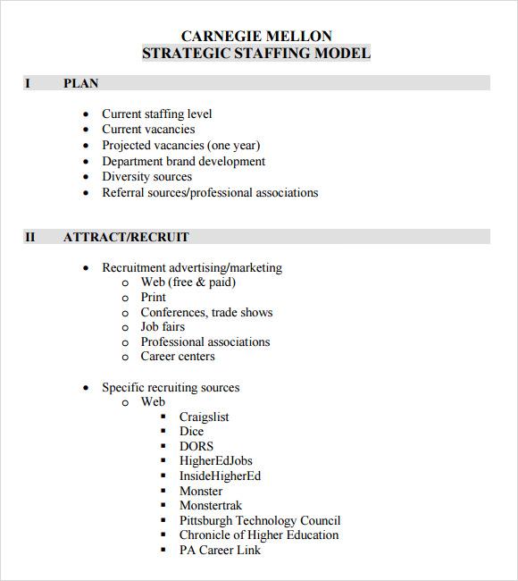 strategic staffing plan template