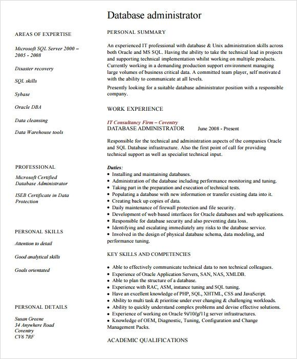 it administrator resume templates
