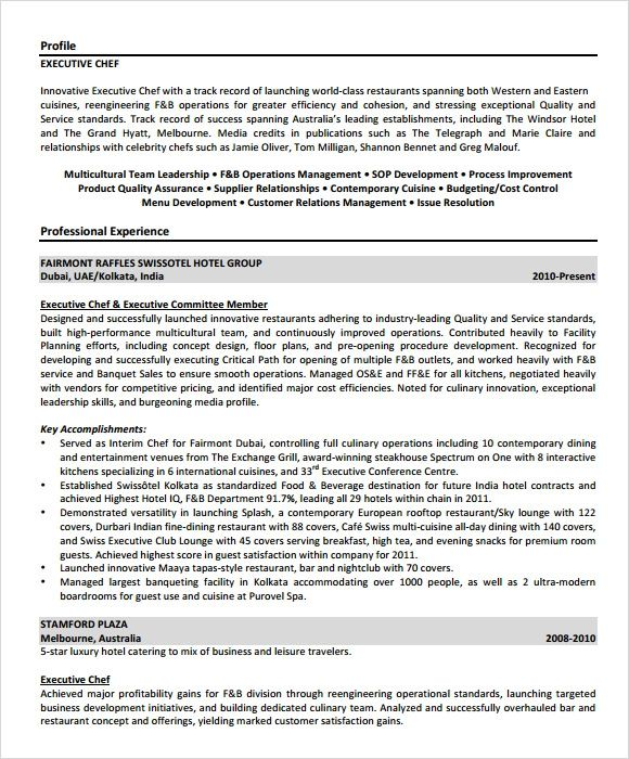 executive summary for resume template