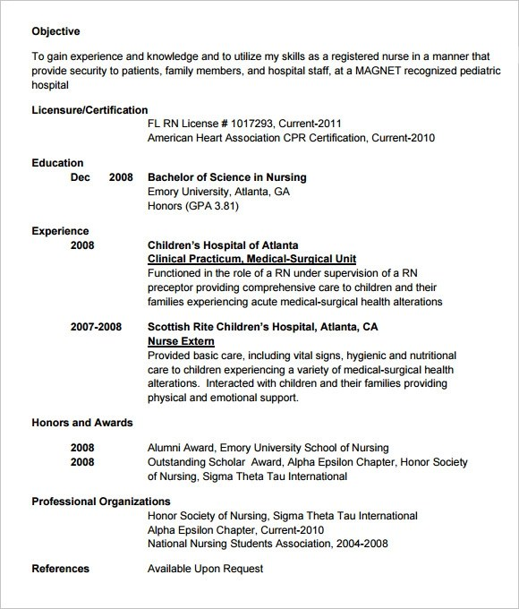 7 Sample Doctor Resumes Sample Templates