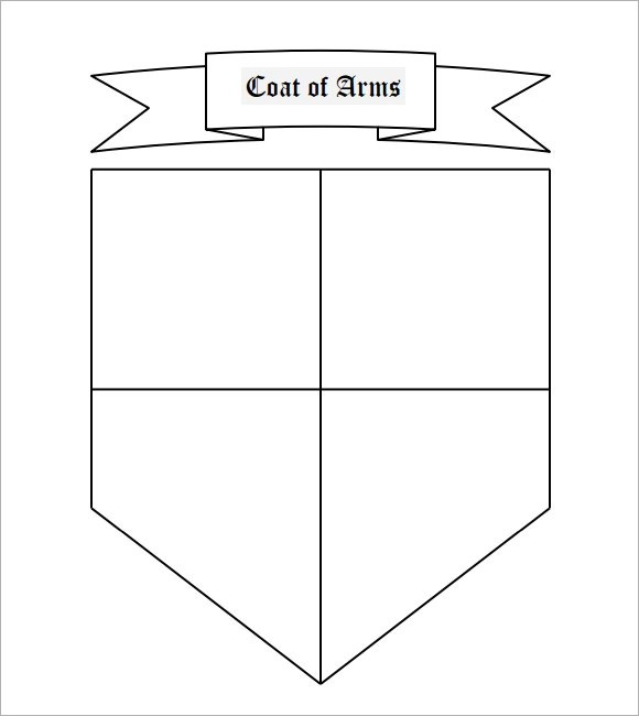 photo relating to Coat of Arms Template Printable Free identified as Coat Of Hands Template - 12+ Down load Inside PDF, PSD, EPS