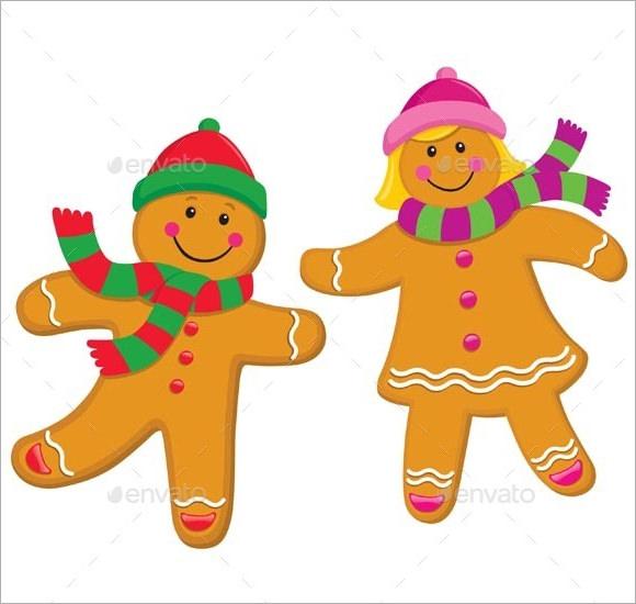 Printable Pattern Gingerbread Man Girl