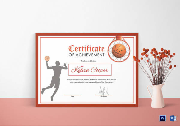 certificate of achievement free template