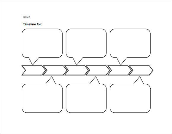 FREE 7+ Sample Blank Timeline Templates in PDF