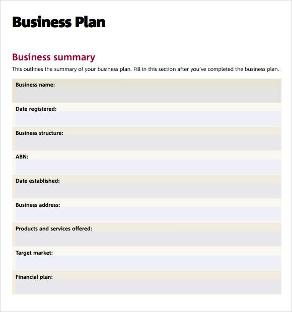 Business Plan Program