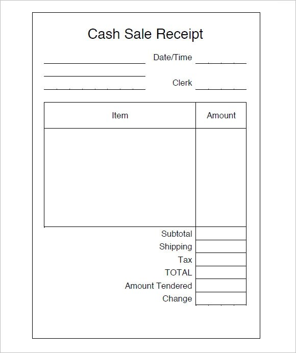 9 Sales Receipt Templates Free Samples Examples