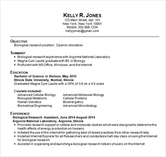 9 Sample College Resume Templates – Free Samples