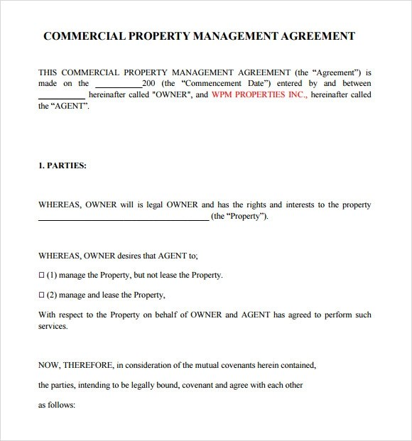 Property Management Agreement 10 Download Free