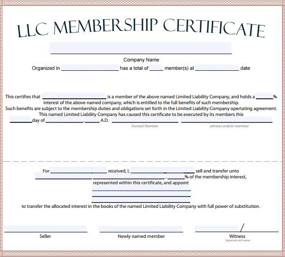 Membership Certificate Template Download Resume Builder