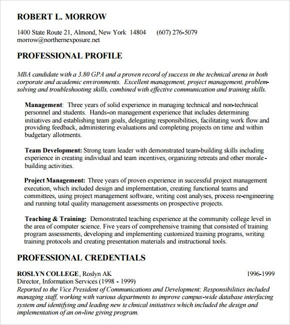 10 MBA Resume Templates  Free Samples Examples  Format  Sample Templates