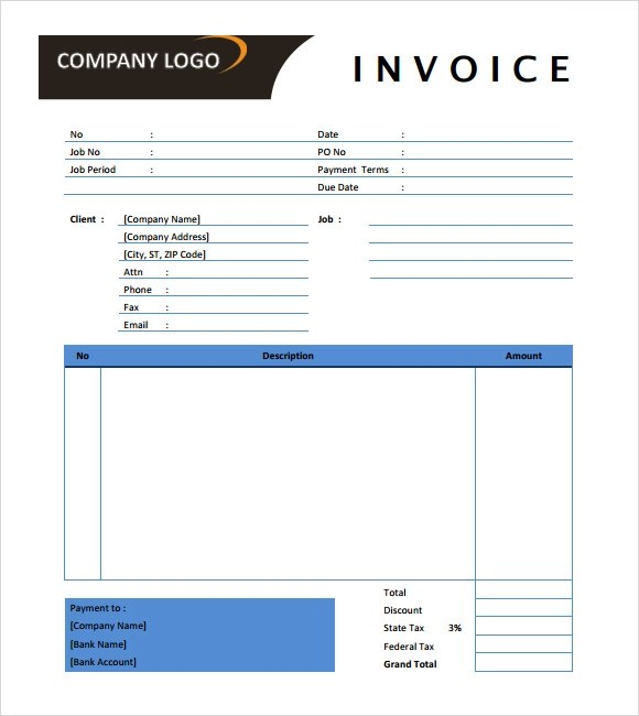 8 Photography Invoice Templates – Free Samples Examples