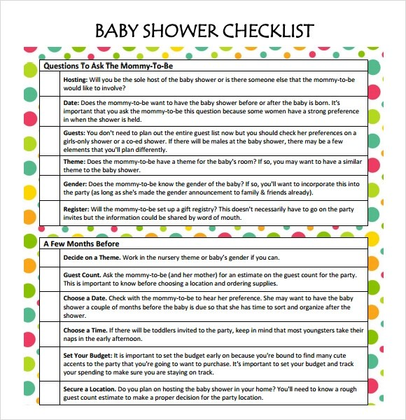 Baby Shower Decoration Checklist  BillingsblessingbagsOrg