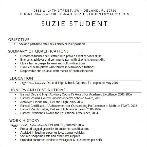 10 High School Resume Templates  Free Samples  Examples  Format  Sample Templates