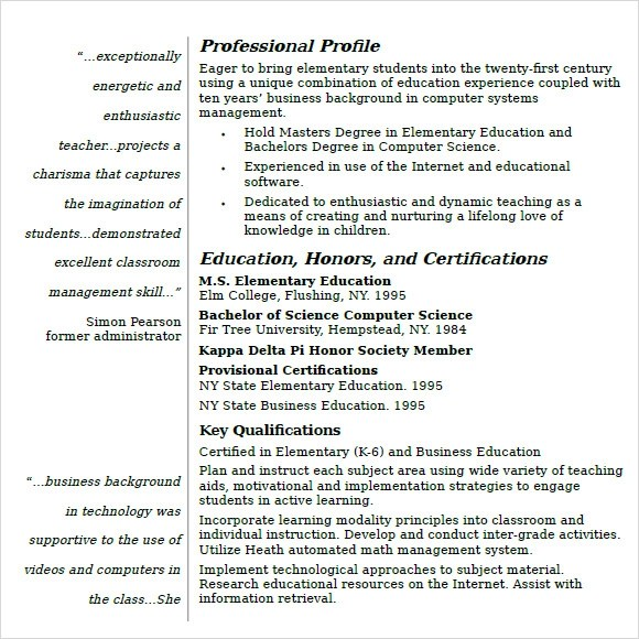 Free Printable Cv Template Types You Will Absolutely Resume