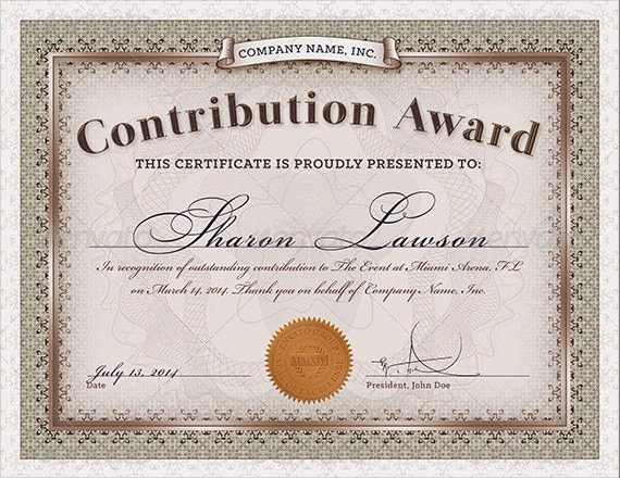 23 Award Certificate Templates – Free Examples Samples