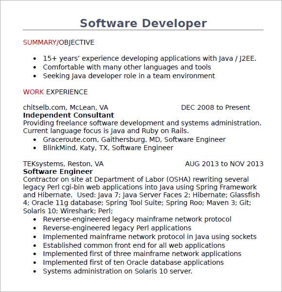 java developer resume pdf - Roho.4senses.co
