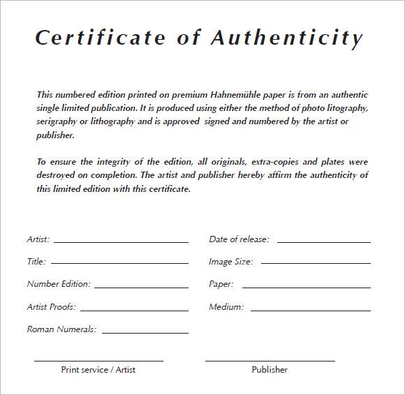 Birthday Certificates Print