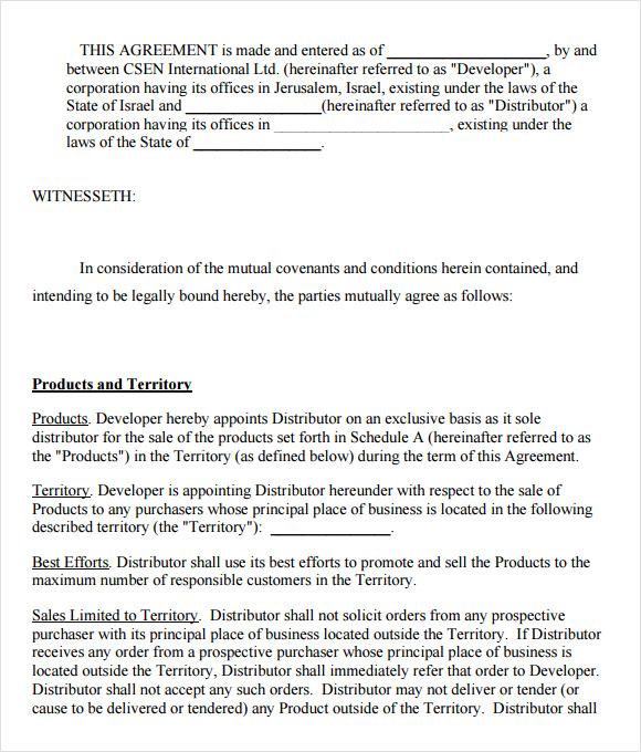 7+ Sample Exclusivity Agreement Templates  Sample Templates