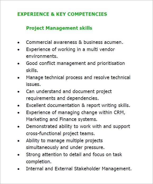 10 Project Manager Resume Templates – Free Samples